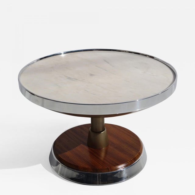 White Illuminated Side Table From SS Stella Solaris Cruise Ship For Sale - Image 8 of 8