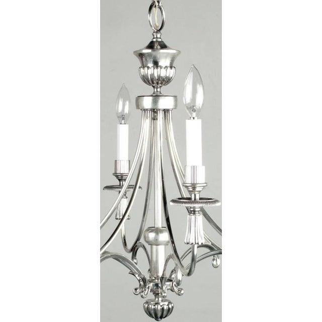 Lightolier Silver Italian Six-Arm Chandelier For Sale - Image 4 of 6