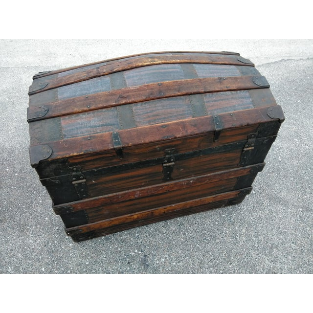 19th Century Gothic Travel Trunk For Sale - Image 4 of 7