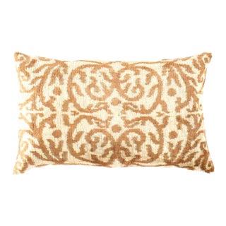 Ti 191 Turkish L Brown Silk Ikat Pillow For Sale