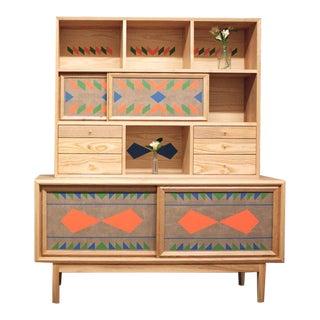 Volk Furniture Dean Credenza W/ Storage Unit For Sale
