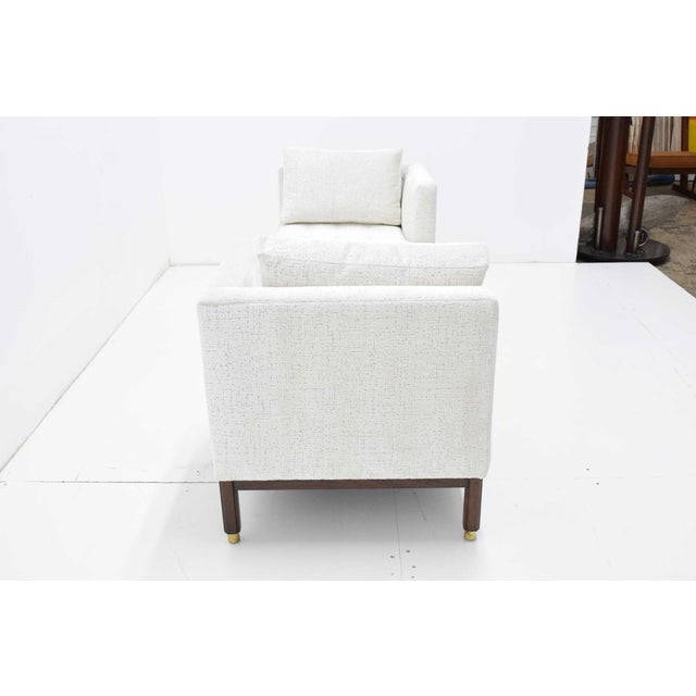 Mid-Century Modern 1950s Vintage Dunbar Tête-à-Tête Sofa by Edward Wormley For Sale - Image 3 of 10