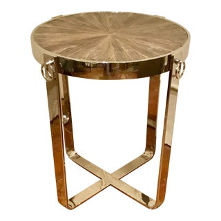 Interlude Home Industrial Modern Monaco Side Table For Sale