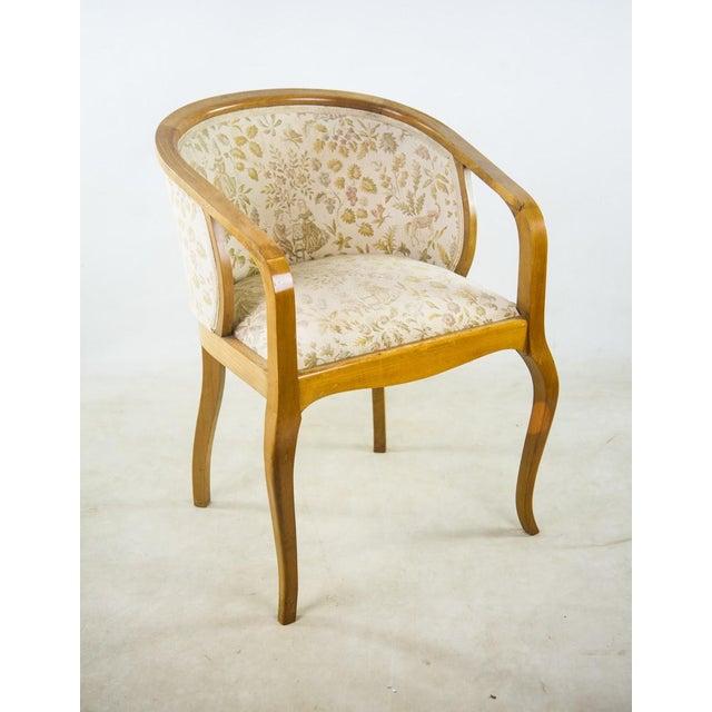 Art Nouveau Parlor Furniture - Set of 5 For Sale - Image 4 of 11