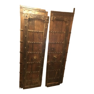 Original Antique Salvaged Hand-Made Indian Doors For Sale