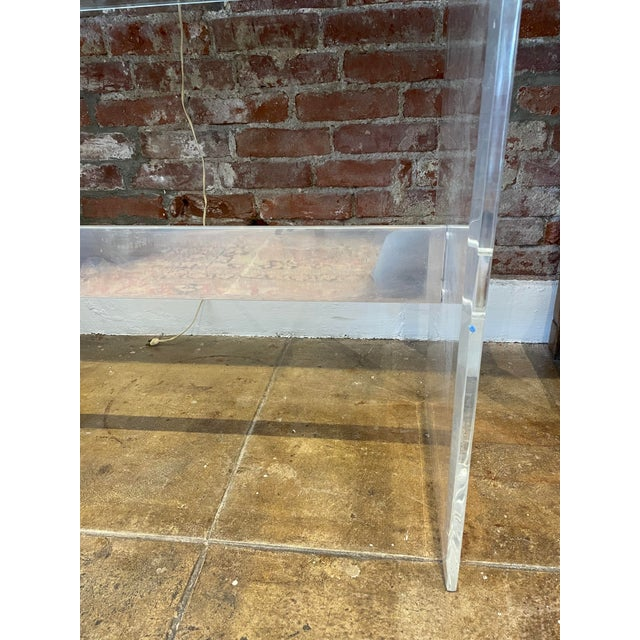 Mid-Century Modern 90's Lucite Console For Sale - Image 3 of 8