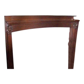 Mahogany Arts & Crafts Mantel