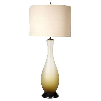 1960s Italian Frosted Glass Table Lamp - Image 1 of 4