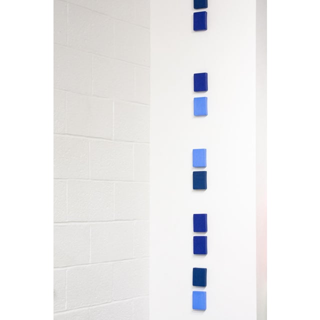 Elysia Vandenbussche Contemporary Meditation of Blue Wall Sculpture by Elysia Vandenbussche For Sale - Image 4 of 4