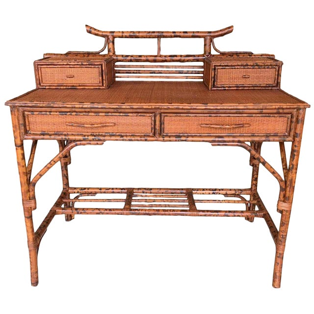 Japanoise Bloomingdale's Bamboo Writing Desk For Sale