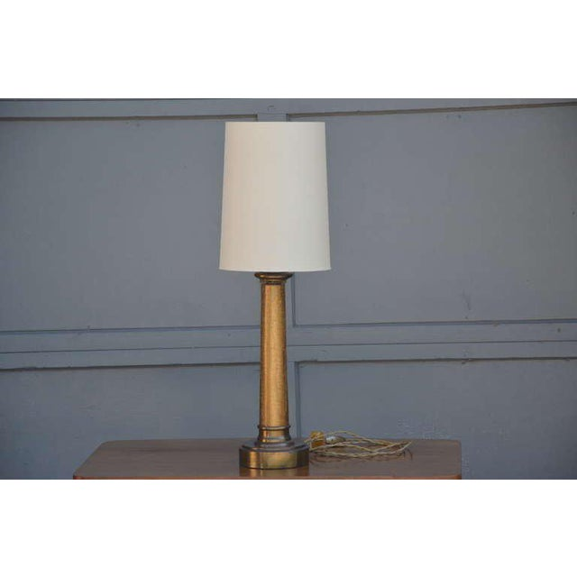 Pair of Chic Crackled Glass Column Lamps by Paul Hanson For Sale - Image 10 of 10