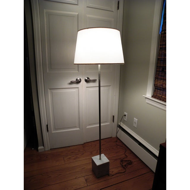 Mid-Century Chrome & Marble Pencil Floor Lamp - Image 8 of 8