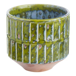Green Botanical Cachepot, Small For Sale
