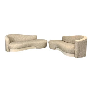 Vintage Weiman Sculptural Cloud Sofas- a Pair For Sale