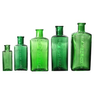 Antique English Poison Bottles For Sale