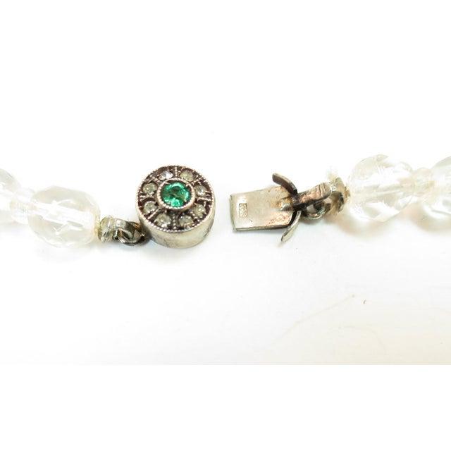 Edwardian Cut Lead Crystal Bead Choker Necklace & Sterling Earrings,1905 For Sale - Image 12 of 13