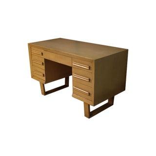 Mid Century Modern Double Pedestal Desk For Sale