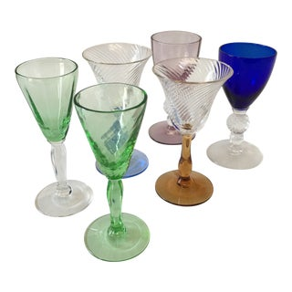 Morgantown Glass Depression Glass Cordials - Set of 6 For Sale