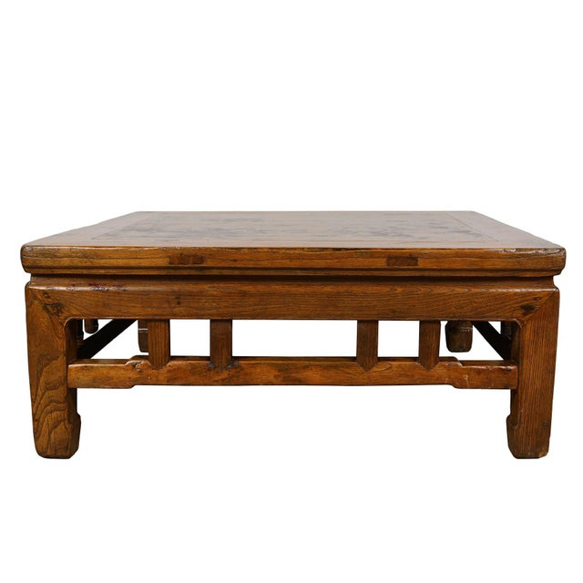 Antique Chinese Carved Kang Table/Coffee Table For Sale - Image 9 of 12