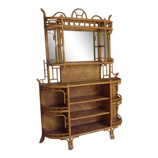 Lexington Bamboo and Rattan Etagere For Sale