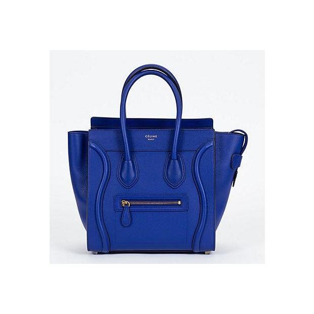 Celine New Indigo Micro Luggage Bag For Sale - Image 10 of 10