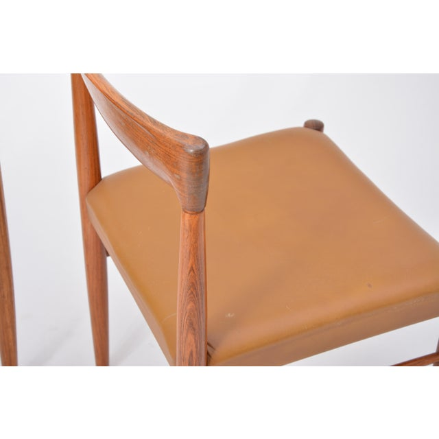 Rosewood Dining Chairs by h.w. Klein for Bramin, Set of Four For Sale - Image 6 of 12