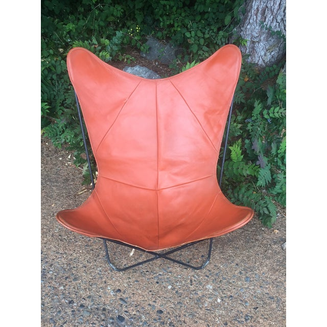 Mid-Century Leather Butterfly Chair - Image 2 of 7