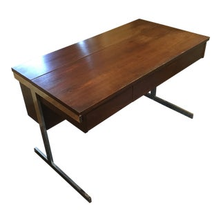Mid-Century Modern Lane Rosewood and Chrome Desk For Sale