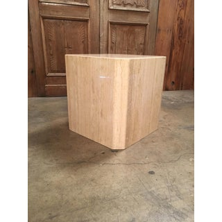 Vintage Mid Century Octagonal Travertine Table Preview