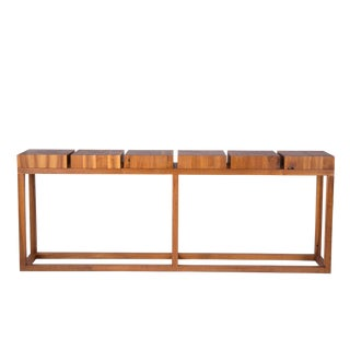 Robert Bristow Walnut Console Table for Ralph Pucci For Sale