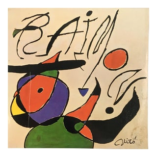 Joan Miró 1970s Vinyl Record Album Art For Sale