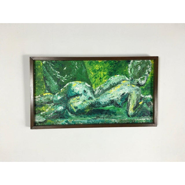 1960s Abstract Expressionist Oil Painting of Female Nude For Sale In Detroit - Image 6 of 6