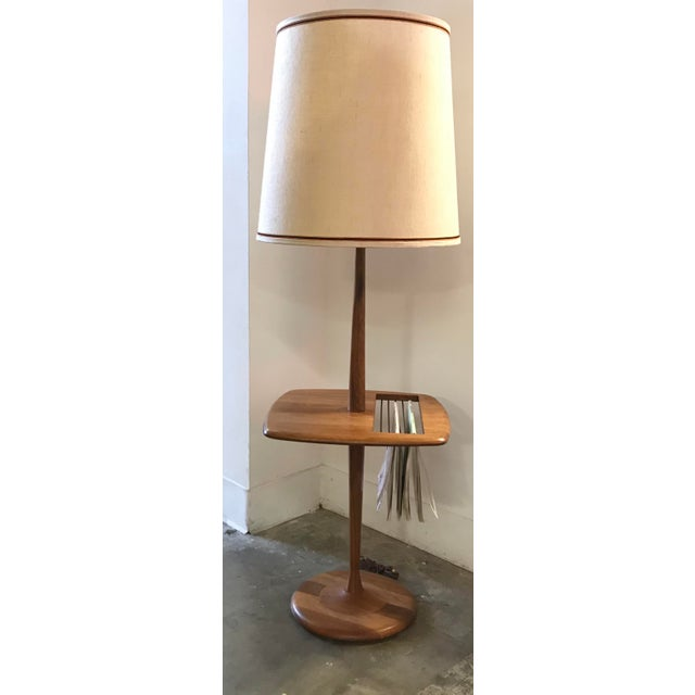 Laurel walnut floor lamp w table magazine rack chairish laurel walnut floor lamp w table magazine rack image 2 aloadofball Gallery