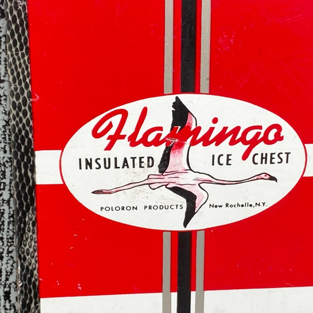 Mid-Century Modern 1950s Flamingo Insulated Ice Chest Cooler For Sale - Image 3 of 13