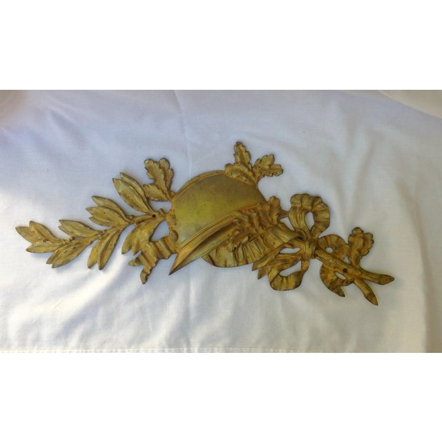 French Gilt Bronze Wall Plaque For Sale - Image 5 of 7