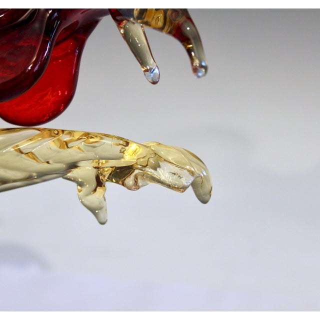Murano 1950s Murano Italian Venetian Glass Rooster Figurine For Sale - Image 4 of 13