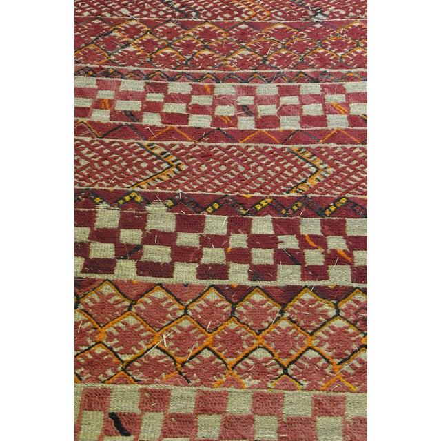 "Vintage Moroccan Wool Straw Rug - 6'8"" x 9'7"" - Image 3 of 4"