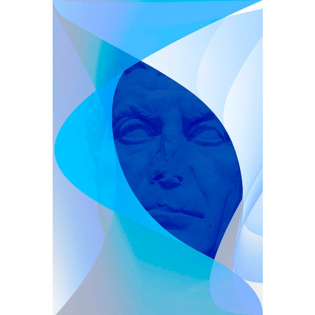 Laura Noel Blue Oval Contemporary Photograph For Sale