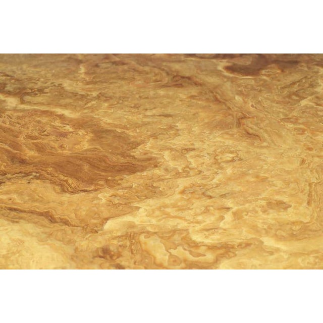 Pace Collection Square Onyx and Brass Dining Table For Sale In Chicago - Image 6 of 7