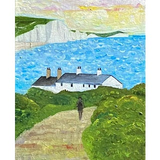 """""""Seven Sisters"""" Sussex, England, Contemporary Impressionist Landscape Oil Painting For Sale"""