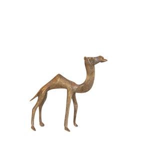 Vintage African Medium Bronze Camel For Sale