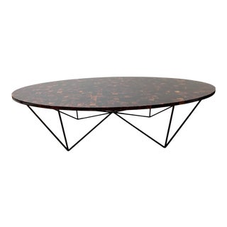 Oly Studio Transitional Dark Shell Top Coffee Table For Sale