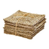 Image of Rush House for Chairish Individual Seagrass Squares, Set of 12 For Sale