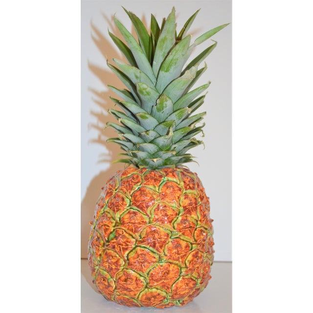 Boho Chic Dodie Thayer Pineapple Vase For Sale - Image 3 of 10