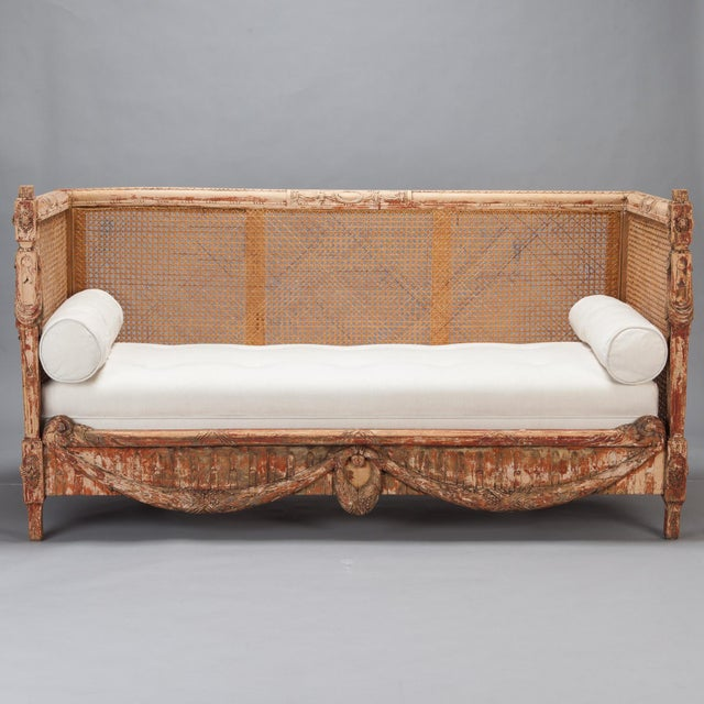 19th-Century Swedish Cane-Back Settee - Image 2 of 9