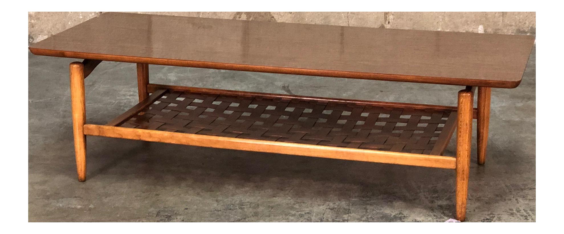 Lane MidCentury Modern Coffee Table Floating Top Design Chairish