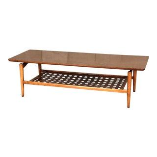 Lane Mid-Century Modern Coffee Table Floating Top Design