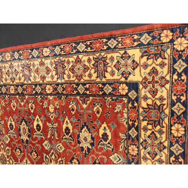 "Kazak Knotted Wool Rug -- 7'6"" x 11'3"" For Sale - Image 5 of 10"