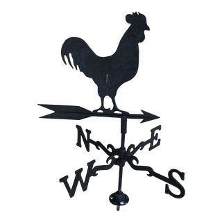 Late 20th Century Vintage Rustic Rooster Weathervane For Sale