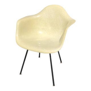 1940s Eames Herman Miller Lax Fiberglass Arm Shell Chair For Sale